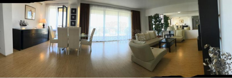 Practical apartment of 2 bedrooms in secured complex with private park and open view, East Floreasca