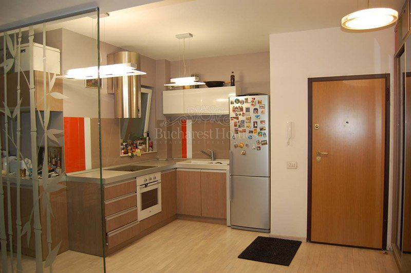 Modern furnished one bedroom bachelor apartment herastrau for Modern bachelor apartment